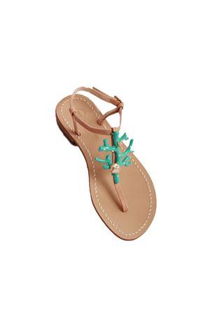 Sandali capresi con corallo gioiello turchese Da Costanzo | 5032256 | 1918CORALTURCHESE