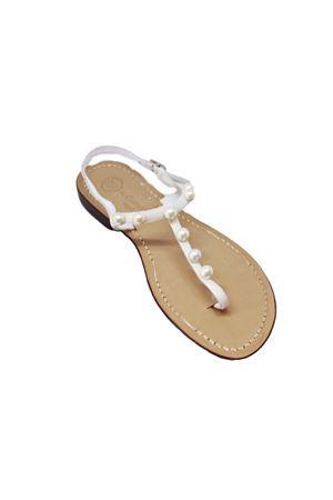 Handmade velvet Capri sandals Da Costanzo | 5032256 | 20597CBIANCO