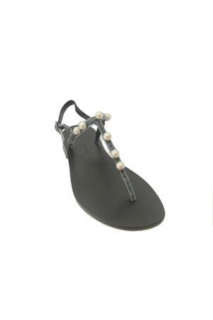 Sandalo caprese in velluto grigio Da Costanzo | 5032256 | 20597CGRIGIO