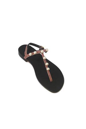 Sandalo caprese in velluto rosa Da Costanzo | 5032256 | 20597CROSA