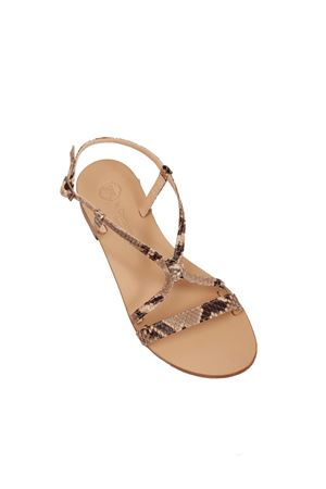 Python Capri sandals classic model not flip-flops Da Costanzo   5032256   2606BEIGE PITONATO