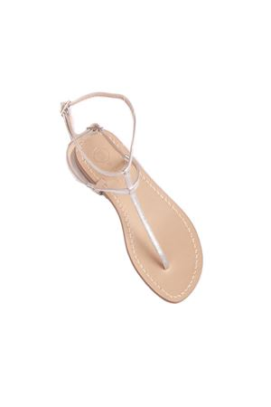 Silver flat sandals flip flop model  Da Costanzo   5032256   2609ARGENTO