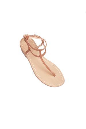 Brown capri sandals high at the ankle model  Da Costanzo   5032256   2609MARRONE