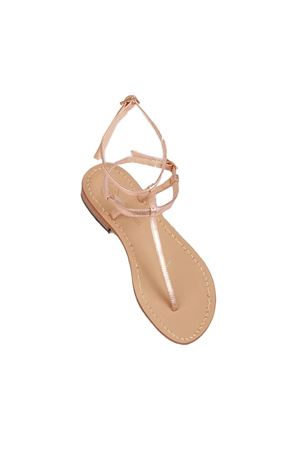 Pink laminated capri sandals Da Costanzo | 5032256 | 2609ROSA