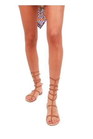 Brown  gladiator sandals Da Costanzo | 5032256 | 2611/BR5CUOIO