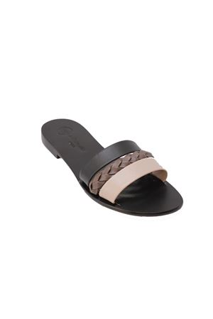 Capri sandals slipper model with 3 bands Da Costanzo | 5032256 | 3 FASCIE TRECCIANERO