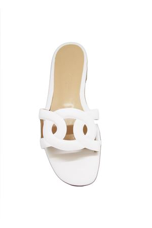 White leather Capri sandals Da Costanzo | 5032256 | CIABATTA FASCIA CATENABIANCO