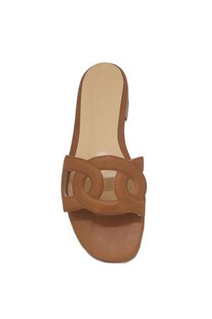 Brown Capri handmade sandals Da Costanzo | 5032256 | CIABATTA FASCIA CATENAMARRONE