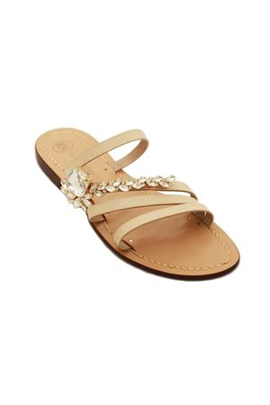 Jewel sandals not flip flop model Da Costanzo | 5032256 | DIAGONALEBEIGE