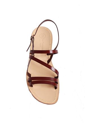 Brown Capri sandals for men  Da Costanzo | 5032256 | DOPPIA F2MARRONE