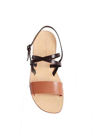 Sandali capresi da uomo non infradito nero e marrone Da Costanzo | 5032256 | DOPPIA XMARRONE