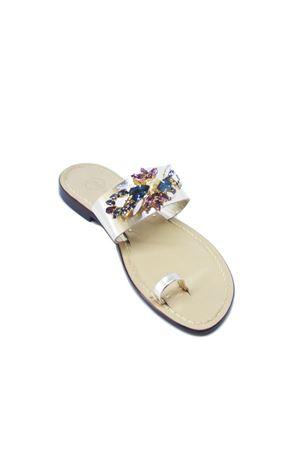 Sandali gioiello con fascia larga platino Da Costanzo | 5032256 | FASCIA GIOIELLOORO