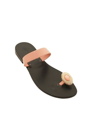 Pink Capri sandals with jewel on the toe Da Costanzo | 5032256 | FUNGOROSA