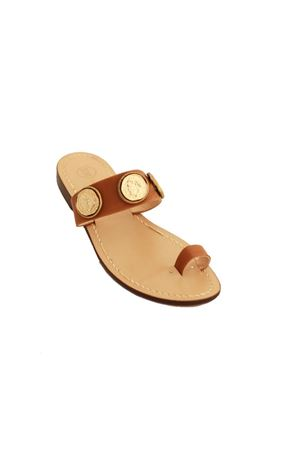 Capri sandals decorated with coins Da Costanzo | 5032256 | MONETE FAMARRONE