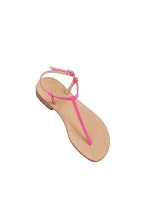 Fucsia handmade Capri sandals flip flop model Da Costanzo | 5032256 | S191818FUXIA
