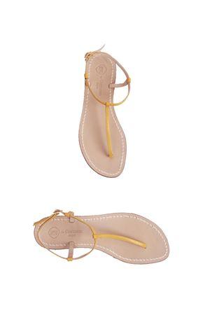 Sandalo Caprese artigianale modello infradito giallo Da Costanzo | 5032256 | S191818GIALLO