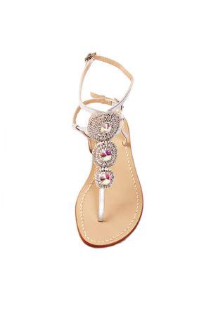 Sandali gioiello argentati con chiusura alla caviglia Da Costanzo | 5032256 | S3690BISARGENTO
