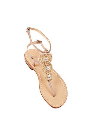Sandali gioiello dorati con tacco basso Da Costanzo | 5032256 | S3690BISGRIGIO