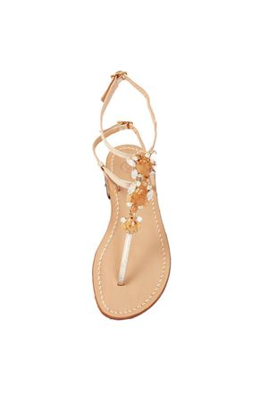 Platinum and pinkish crystals sandals Da Costanzo | 5032256 | S3690ROSA