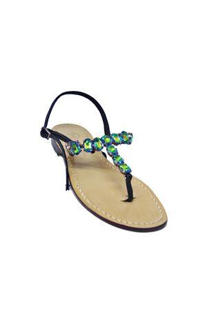 Handmade Capri Jewel sandals Da Costanzo | 5032256 | S3961VERDE