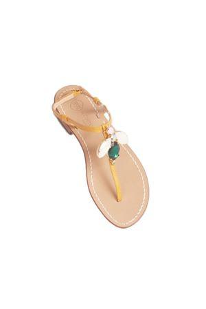 Da Costanzo Capri sandals with jewel hornet  Da Costanzo   5032256   S3963GIALLO