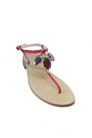 Da Costanzo Capri sandals with jewel hornet Da Costanzo | 5032256 | S3963ROSSO