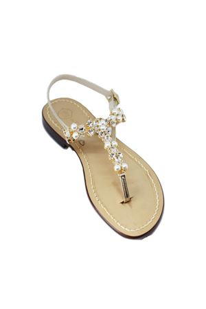 Handmade Capri Jewel sandals Da Costanzo | 5032256 | S3964ORO