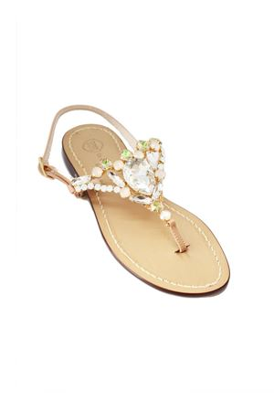 Handmade Capri jewel sandals with Swarovski Da Costanzo | 5032256 | S3966ROSA