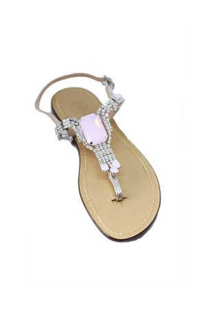 Handmade Capri jewel sandals with Swarovski Da Costanzo | 5032256 | S3967ROSA