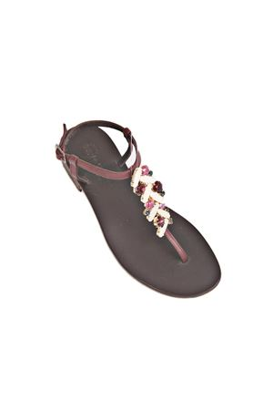 Violet jewel capri sandals  Da Costanzo   5032256   S3975BORDEAUX