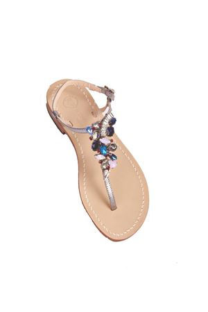 Blue and grey crystals sandals Da Costanzo | 5032256 | S3978ARGENTO