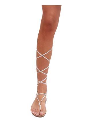 Silver Capri sandals sleave model  Da Costanzo | 5032256 | SCHIAVA CANADESEARGENTO