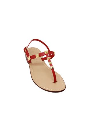 Red sandals with studs Da Costanzo | 5032256 | STUDSROSSO