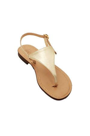 Platinum Capri sandals tirangle model Da Costanzo | 5032256 | TRIANGOLOPLATINO