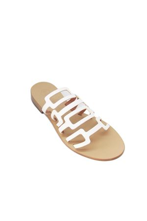 Capri leather sandals Da Costanzo | 5032256 | TV2672BIANCO