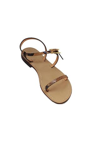 Handmade Capri leather sandals Da Costanzo | 5032256 | ZIGPITONEMARRONE
