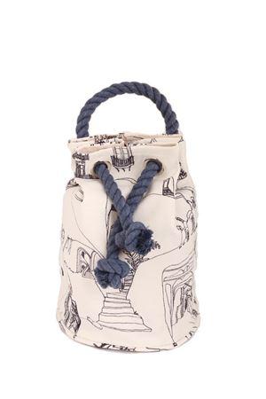 Sac bag with cord handle Eco Capri | 31 | CAPRI BAG ECOCASSETTE BIANCO/BLU