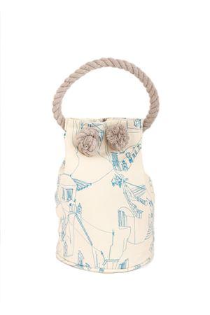 Capri bag with houses pattern Eco Capri | 31 | CAPRI BAG ECOCASSETTE CERIO BLU