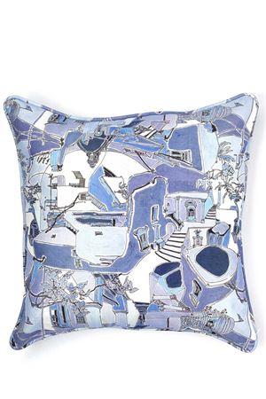 Piazzetta di Capri print cotton pillow Eco Capri | 20000024 | CUSCINO ECOPIAZZETTA