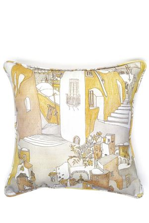 Positano view pattern pillow Eco Capri | 20000024 | CUSCINO ECOPOSITANO