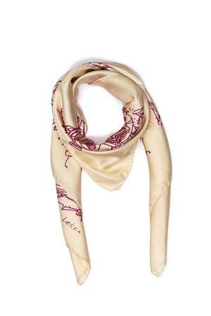 Silc scarf Capri fantasy Eco Capri | -709280361 | FOULARD CAPRI 360CREMA/ROSA