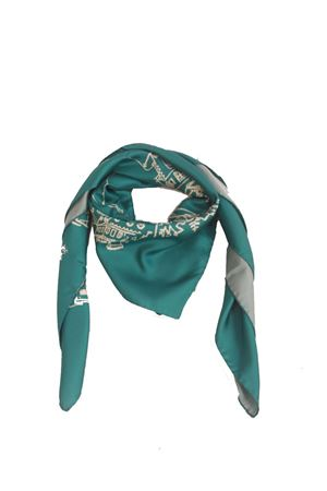 Silk scarf Capri light blue Eco Capri | -709280361 | FOULARD CAPRI 360TURCHESE/CREMA