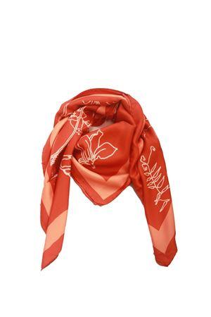 Flora Caprese silk scarf orange Eco Capri | -709280361 | FOULARD ECOFLORA ARANCIO