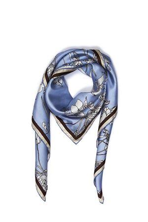 Foulard in seta Flora Caprese azzurro Eco Capri | -709280361 | FOULARD ECOFLORA CAPRESE 2