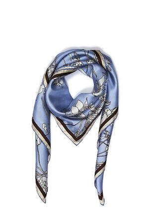Silk scarf Capri Flora light blue Eco Capri | -709280361 | FOULARD ECOFLORA CAPRESE 2
