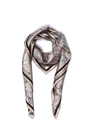 Silk scarf Capri Flora grey Eco Capri | -709280361 | FOULARD ECOFLORA CAPRESE