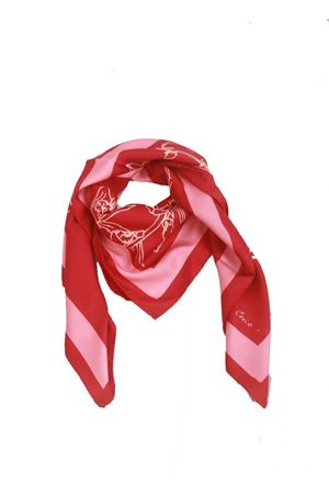 Pure silk Flora Caprese scarf Eco Capri | -709280361 | FOULARD ECOFLORA FUCSIA