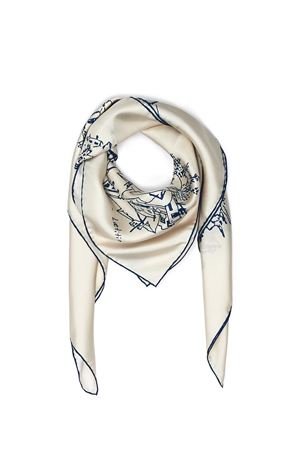 Silk scarf Piazzetta Cerio Eco Capri | -709280361 | FOULARD PIAZZACERIO BLU