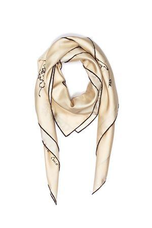 Silk brown scarf Piazzetta Cerio Eco Capri | -709280361 | FOULARD PIAZZACREMA/MARRONE