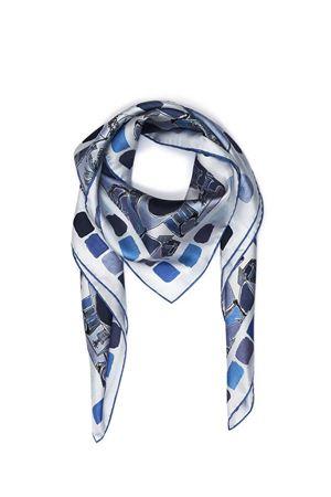 Pure silk scarf Piazzetta of Capri Eco Capri | -709280361 | FOULARD PIAZZETTAAZZURRO